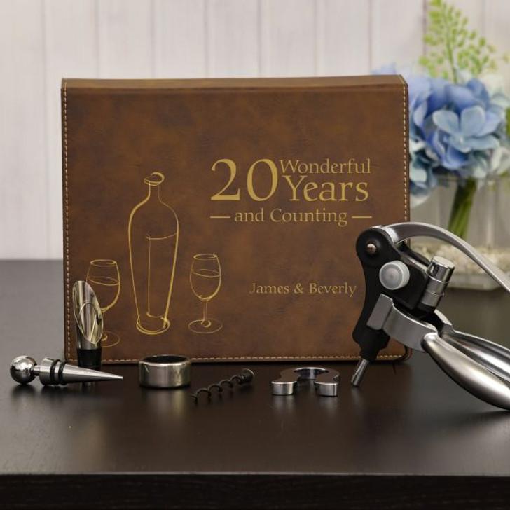 Happy Anniversary Personalized Wine Gift Set
