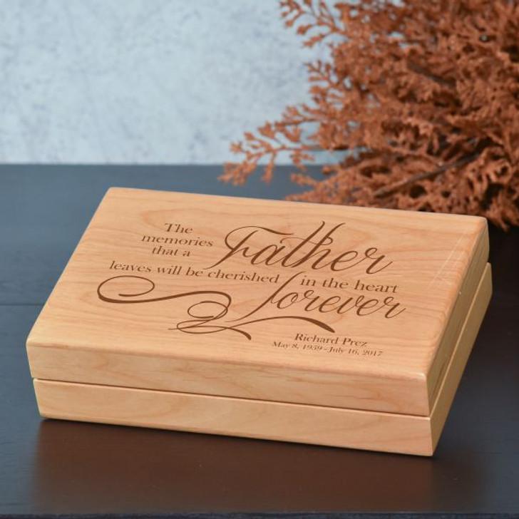 Memories of Father Keepsake Box