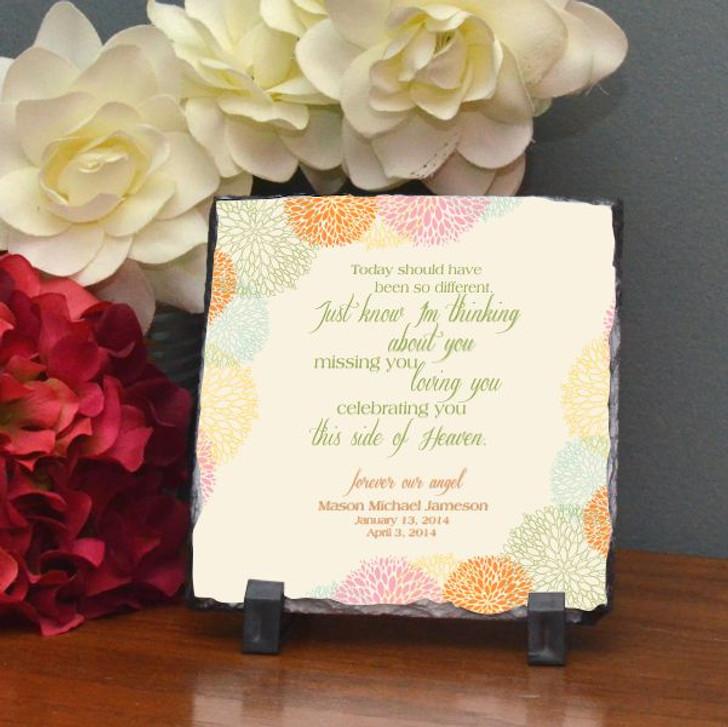Celebrating You Personalized Memorial Plaque