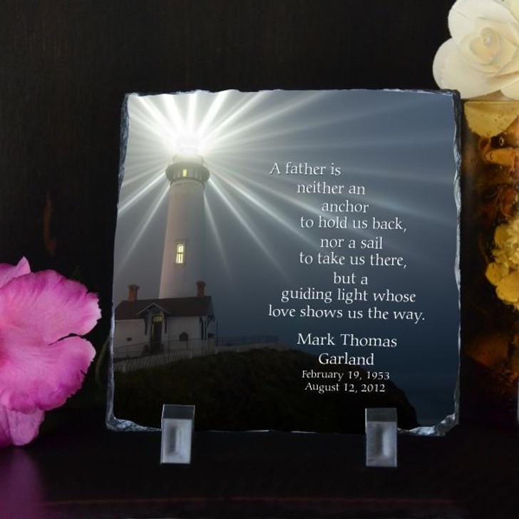 Guiding Light Personalized Memorial Plaque
