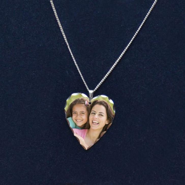 Personalized Heart Photo Pendant