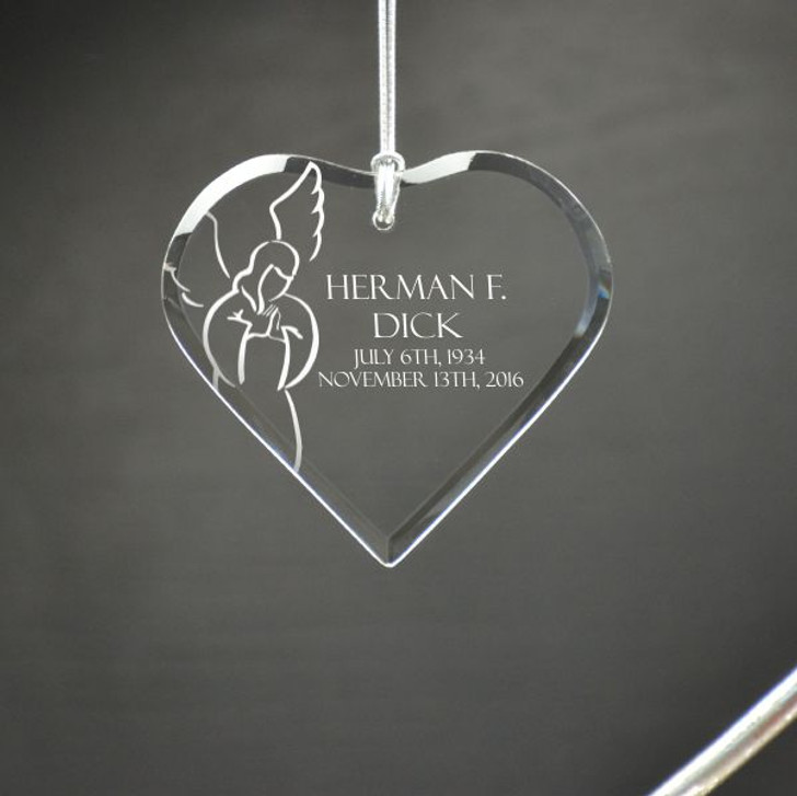 Personalized Angel Heart Ornament