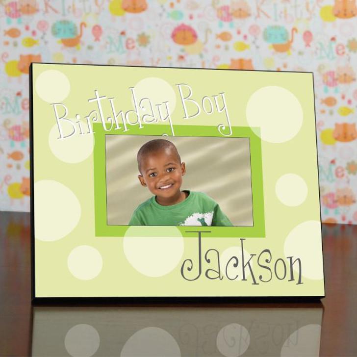 Polka Dot Birthday Frame in Green