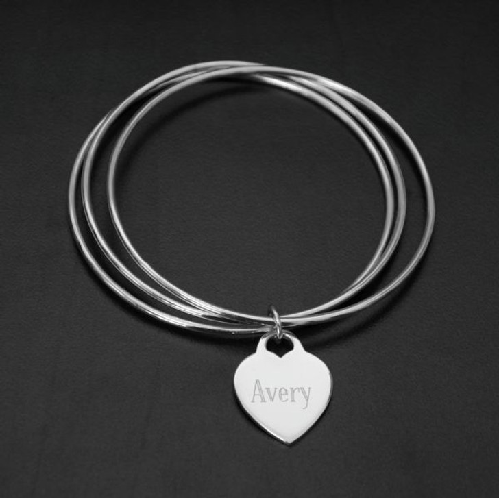 Sterling Silver Memorial Bangle Bracelet