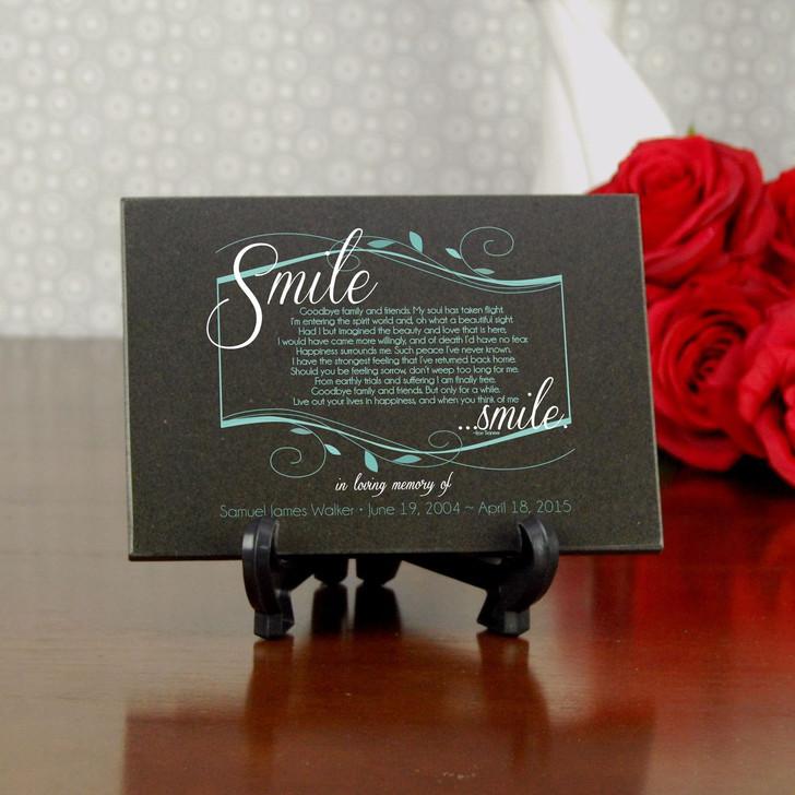 Smile Memorial Granite Plaque