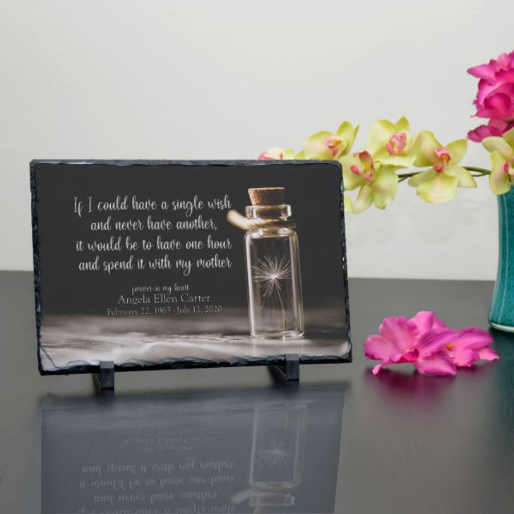A Wish for Mom Personalized Memorial Plaque
