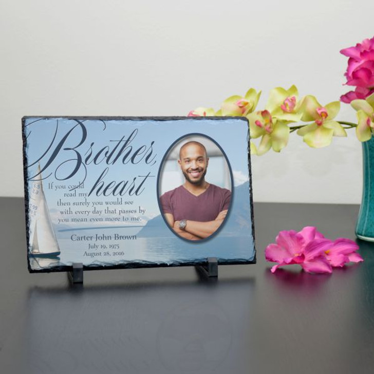 Brother in My Heart Personalized Memorial Plaque
