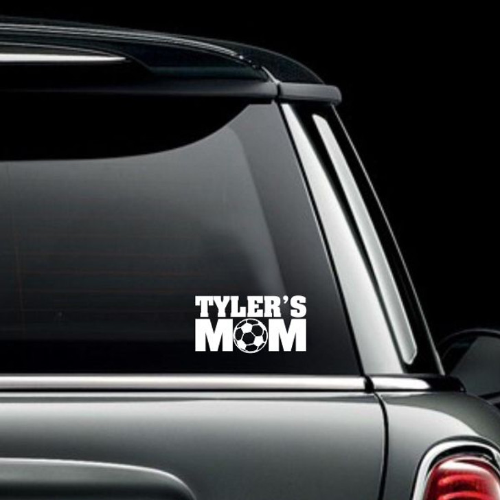 Personalized Soccer Mom Car Decal