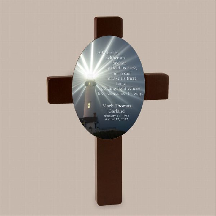 A Father's Love shows the way memorial cross plaque