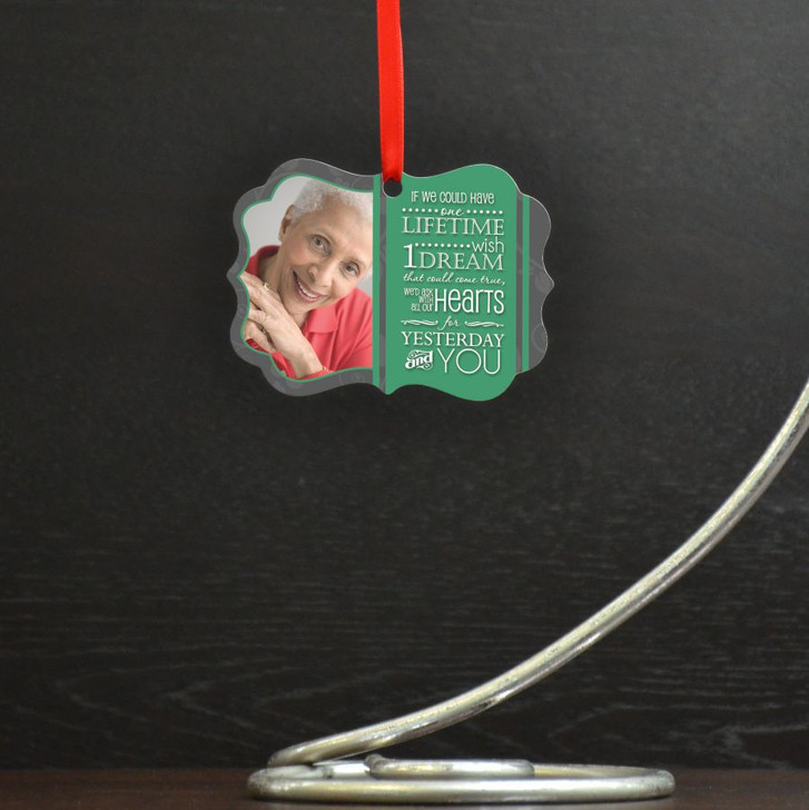 One Wish Ornament Personalized with Photo