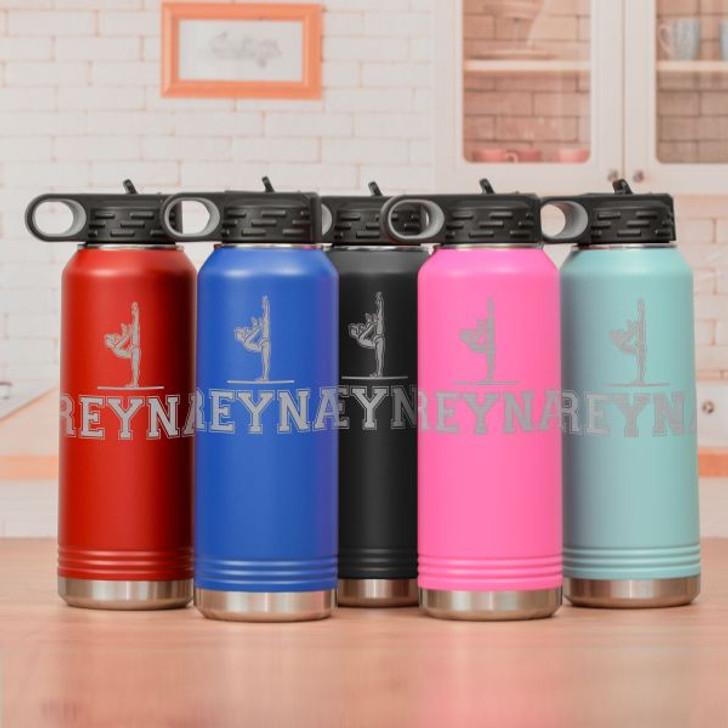 Personalized Gymnastics Water Bottle