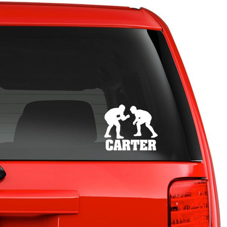 Personalized Wrestling Car Decal