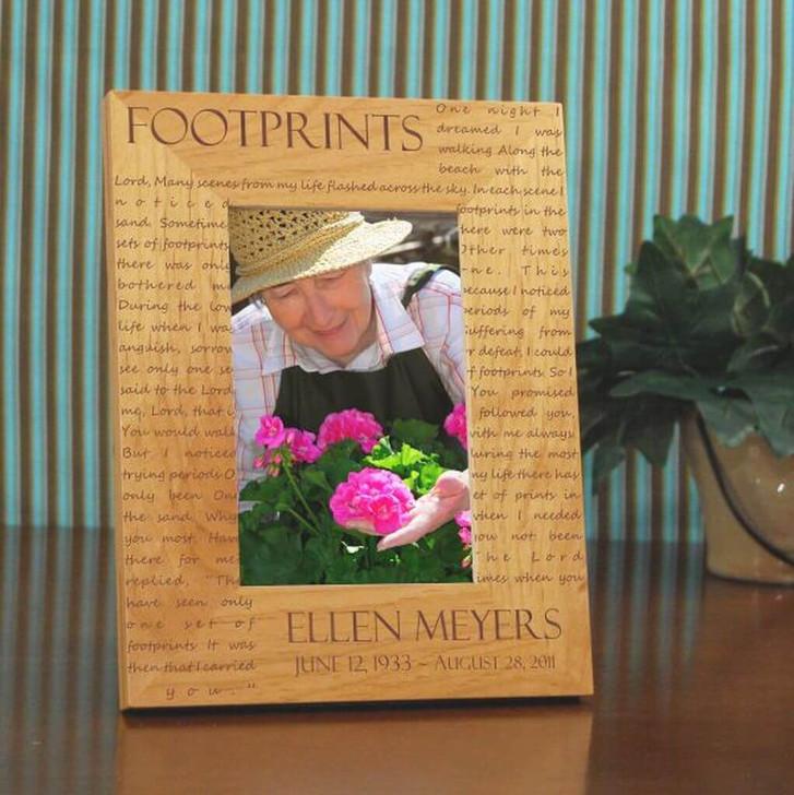 Foot Prints Memorial Frame