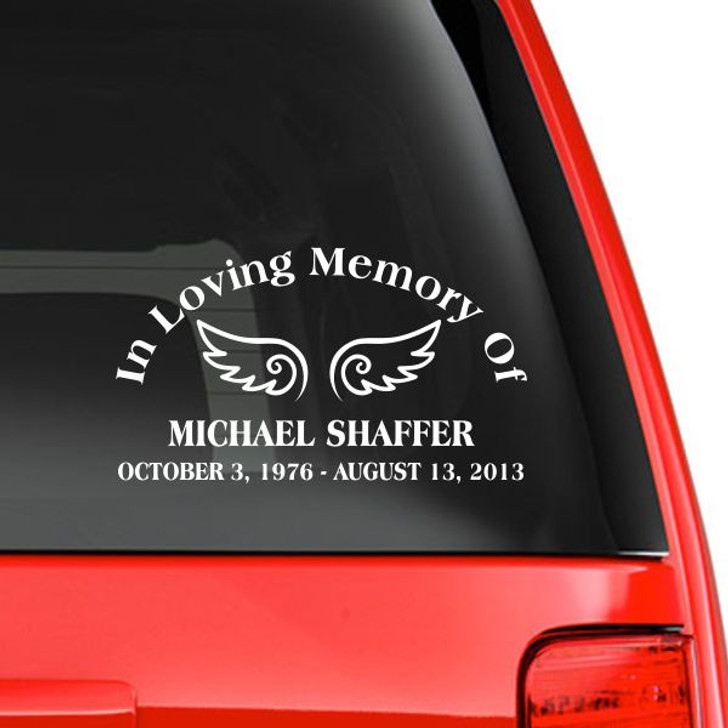 In Loving Memory Memorial Car Decal