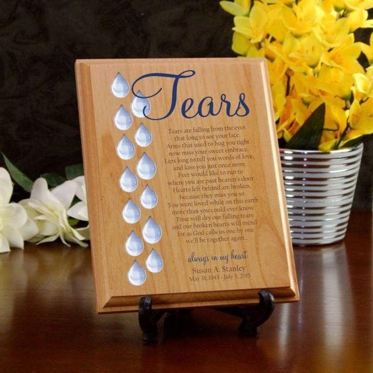 Tears Memorial Wood Plaque