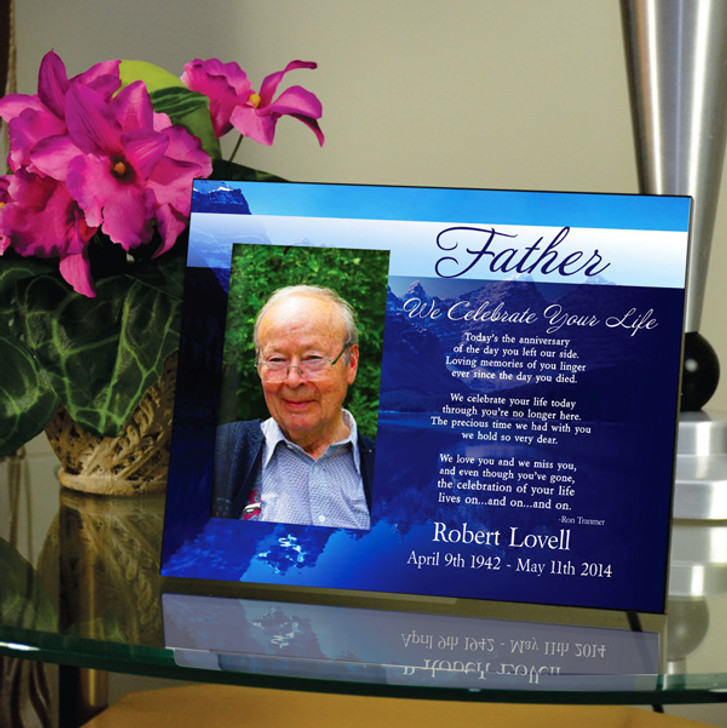 Father We Celebrate Your Life Memorial Frame