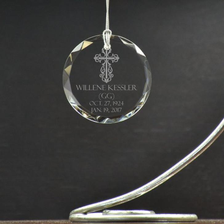 Personalized Cross Ornament