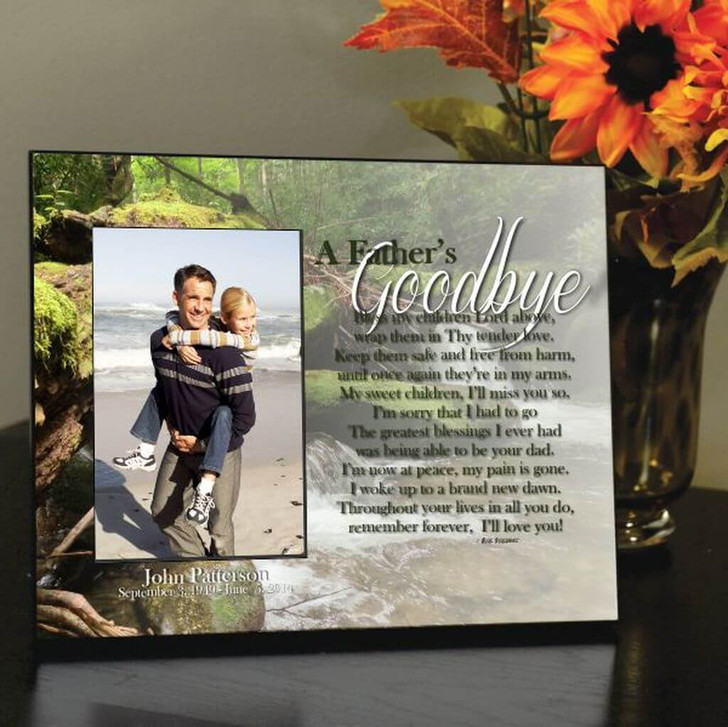 A Father's Goodbye Memorial Picture Frame