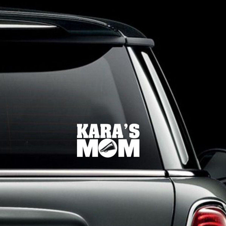 Cheer Mom Personalized Car Decal