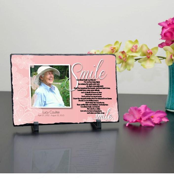 Smile Personalized Memorial Plaque