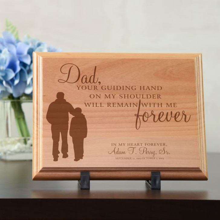 Dad's Guiding Hand Personalized Memorial Plaque