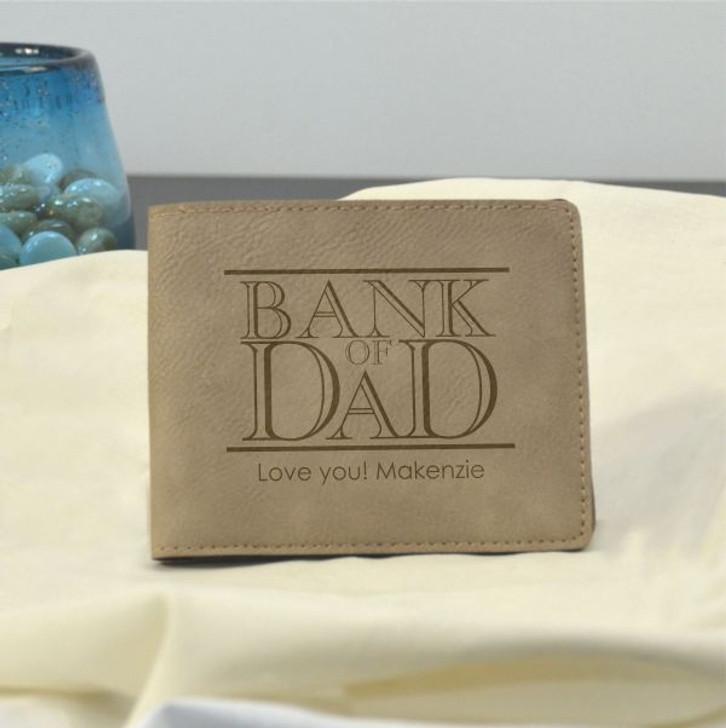 Light Brown Bank of Dad Wallet
