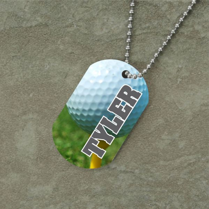 Personalized Golf Dog Tag
