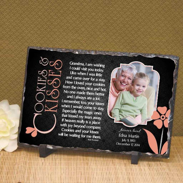 Cookies and Kisses Personalized Memorial Plaque