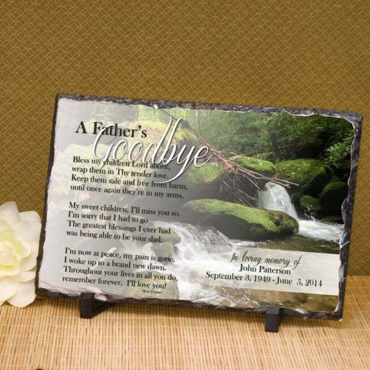 A Father's Goodbye Memorial Stone Plaque