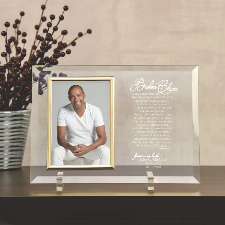 The Broken Chain Memorial Glass Picture Frame