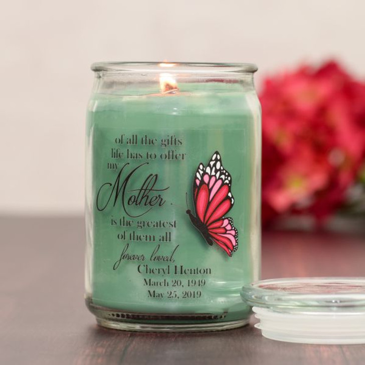Greatest Gift is Mother Memorial Candle Eucalyptus Scent