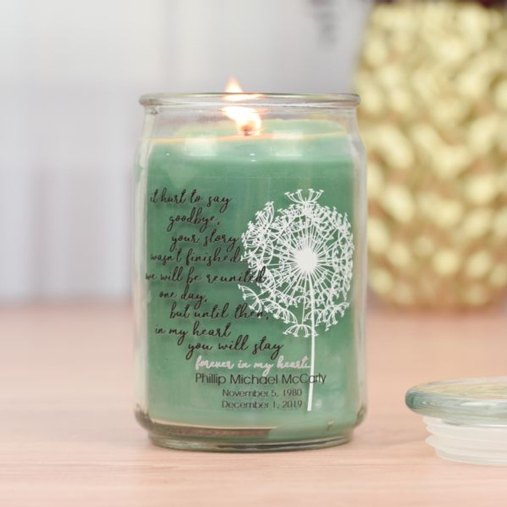 Unfinished Story Memorial Jar Candle in Eucalyptus Scent