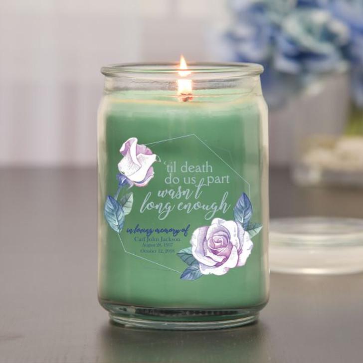 'Til Death Do Us Part Memorial Jar Candle in Eucalyptus Scent