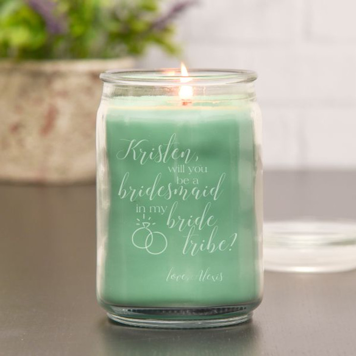 Bride Tribe Personalized Candle - Eucalyptus