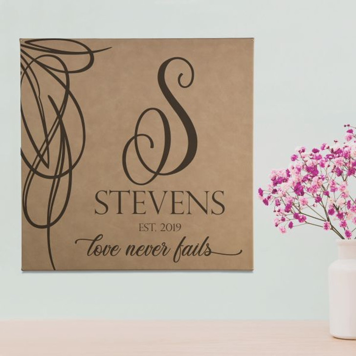 Love Never Fails Personalized Family Wall Art