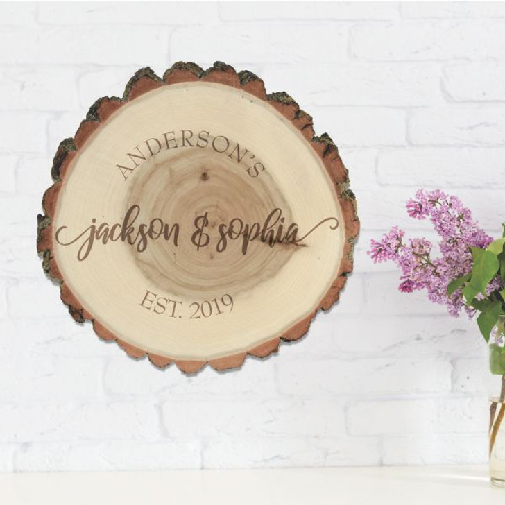Couple's Rustic Personalized Wall Art