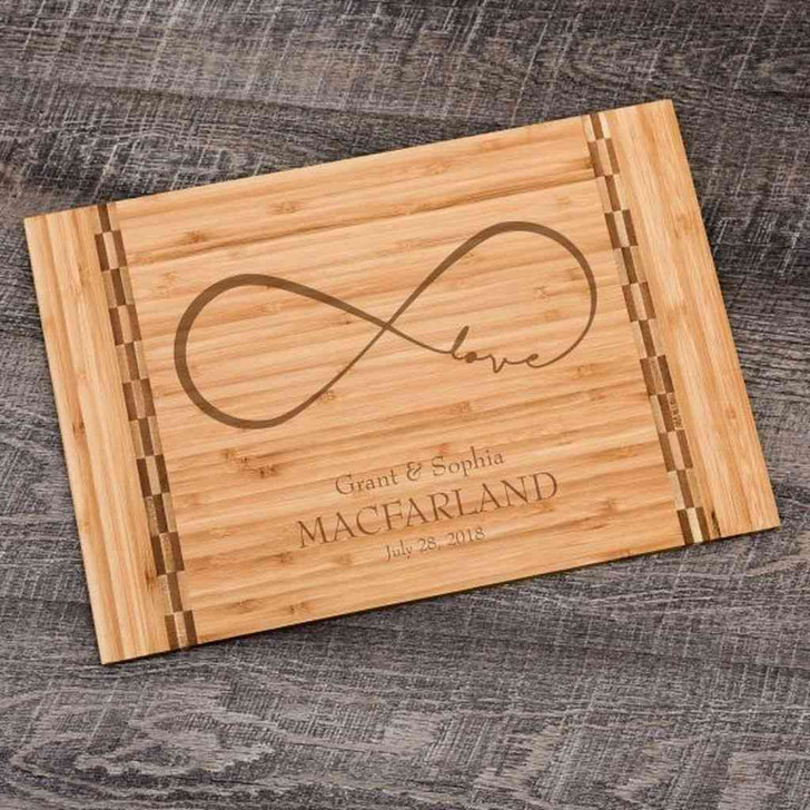Personalized cutting board for wedding gift