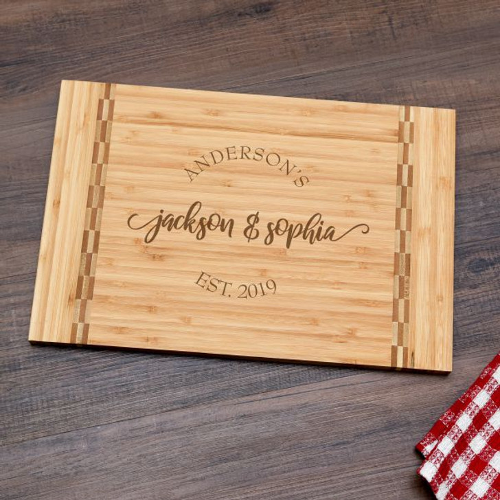 Personalized cutting boards are practical wedding gifts