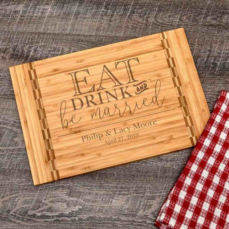 Personalized cutting boards are unique, practical wedding gifts