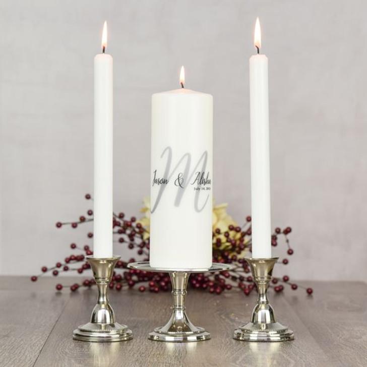 Personalized Monogram Unity Candle