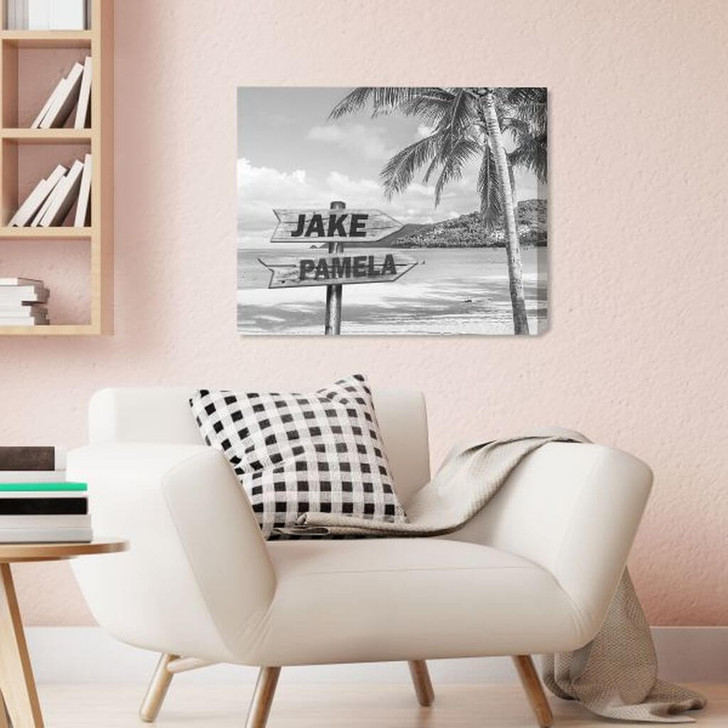 Personalized canvas with 5 names