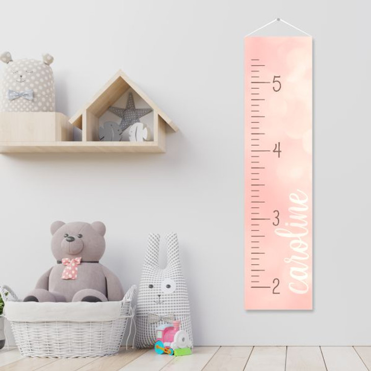 Personalized growth chart is a cute way to track how your little girl grows.