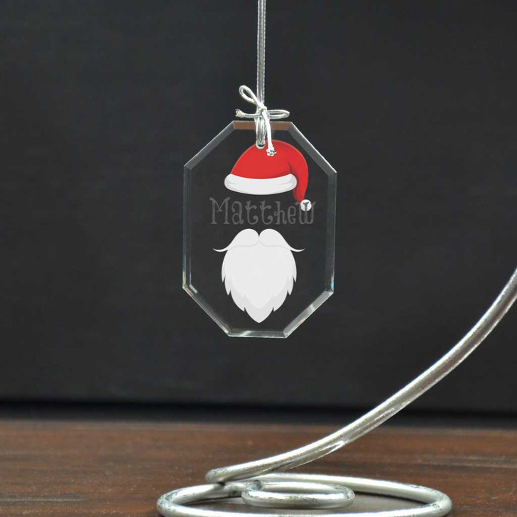Bring to life the magic of Christmas with this personalized Santa ornament for kids.