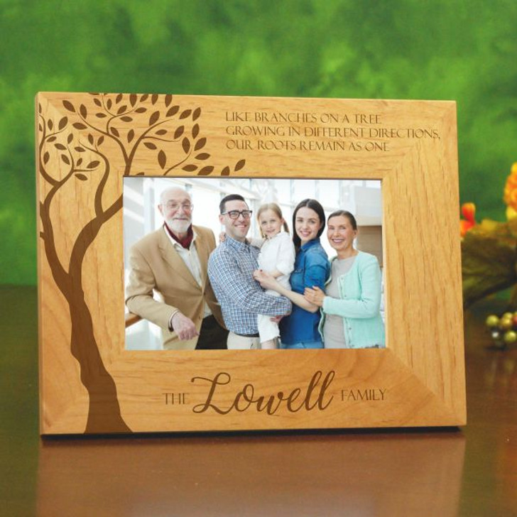Personalize this picture frame for family with their last name.