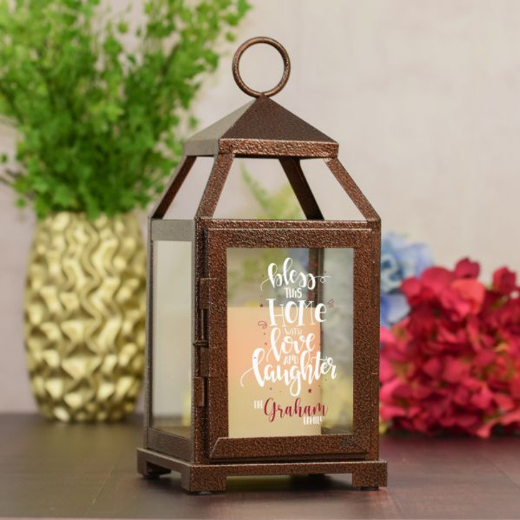 Blessed This Home Personalized Lantern