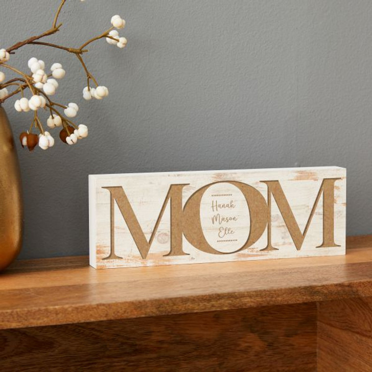Personalized Mom Block Sign