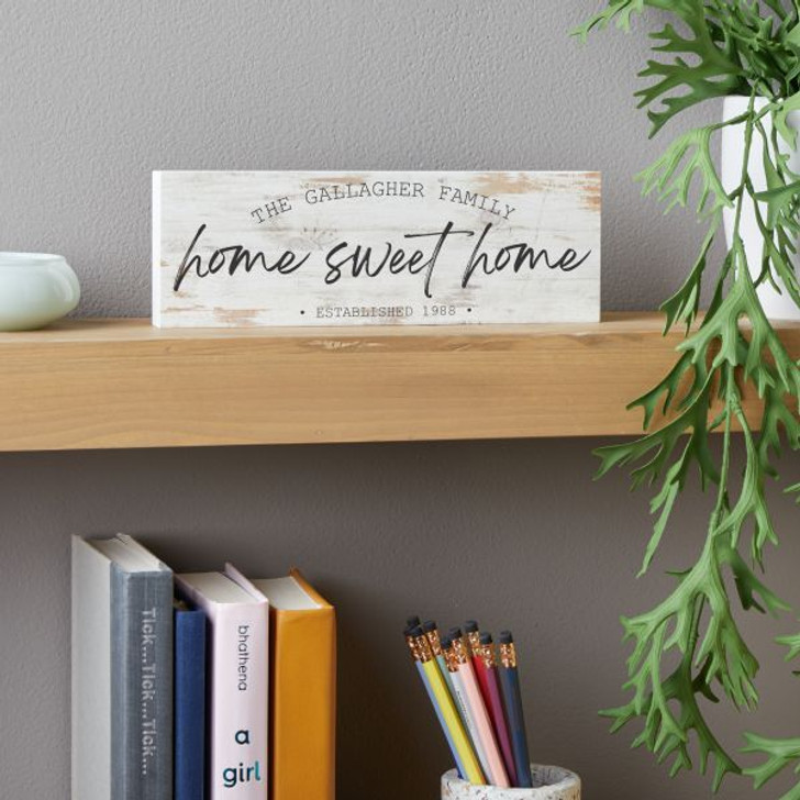 Home Sweet Home Personalized Block Sign