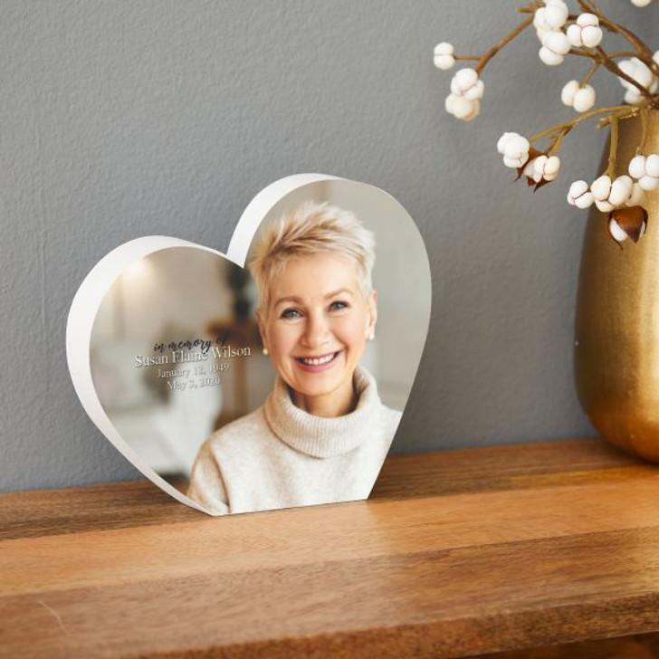 Memory Heart Personalized Memorial Plaque