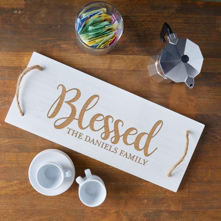 Blessed Engraved Serving Board