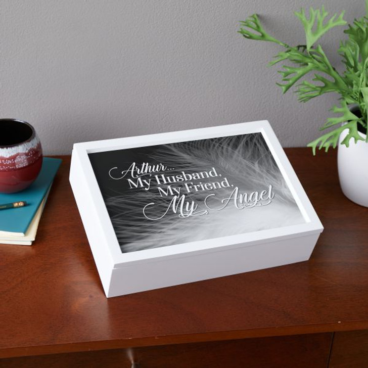 Personalized keepsake box for loss of a spouse